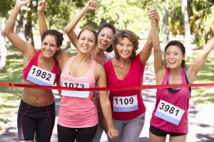 42248369 xl 300x200 - 42248369 - group of female athletes completing  charity marathon race
